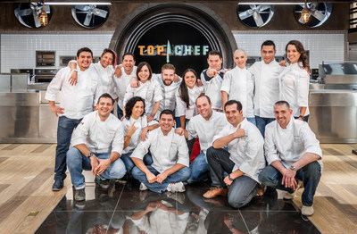 """Top Chef Mexico"" - Season 1 Group shot of 16 cheftestants premiering Thu. Feb. 18 at 9pm/8c"
