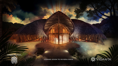 The custom-designed Vidanta Theater will house the first resident Cirque du Soleil show in Mexico.  ...