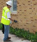 "Clear Penetrating Sealer's ""no-tarp, no-tape"" formula won't harm plants.  (PRNewsFoto/Carlisle Coatings & Waterproofing)"