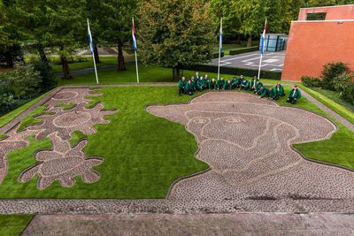 Keukenhof kicks off Van Goghâeuro(TM)s theme year of selfportrait Van Gogh planted in bulbs (PRNewsFoto/Keukenhof)