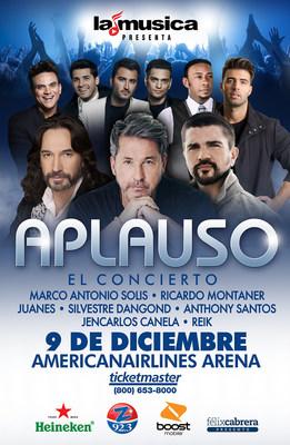 """LaMusica, Zeta 92.3FM y Felix Cabrera Concert Series presentan """"Aplauso 2016"""" en el sur de la Florida"""