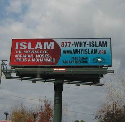 Whyislam.org South Florida Billboard campaign about Islam.  (PRNewsFoto/The Islamic Circle of North America)