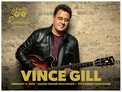 Country Music Icon Vince Gill to be Inducted into Guitar Center's Historic RockWalk