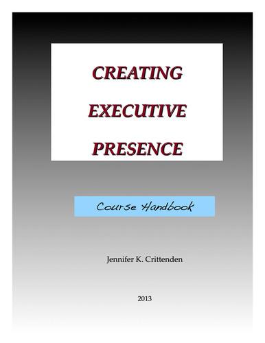 Executive Presence Handbook Cover.  (PRNewsFoto/Creating Executive Presence)