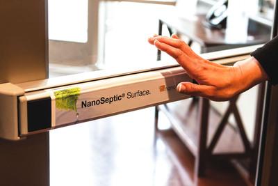NanoSeptic Facility Touch Point Skins.  (PRNewsFoto/NanoTouch Materials)