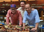 The Lee Bros. with Chef Tim Byres (center) of Smoke in Dallas. Photo Credit: Cooper Neill/Getty Images