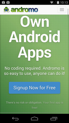 Andromo - image 2. (PRNewsFoto/Andromo App Maker for Android)