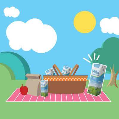 Milk Unleashed Picnic Month Image.   (PRNewsFoto/Tetra Pak and Milk Unleashed)