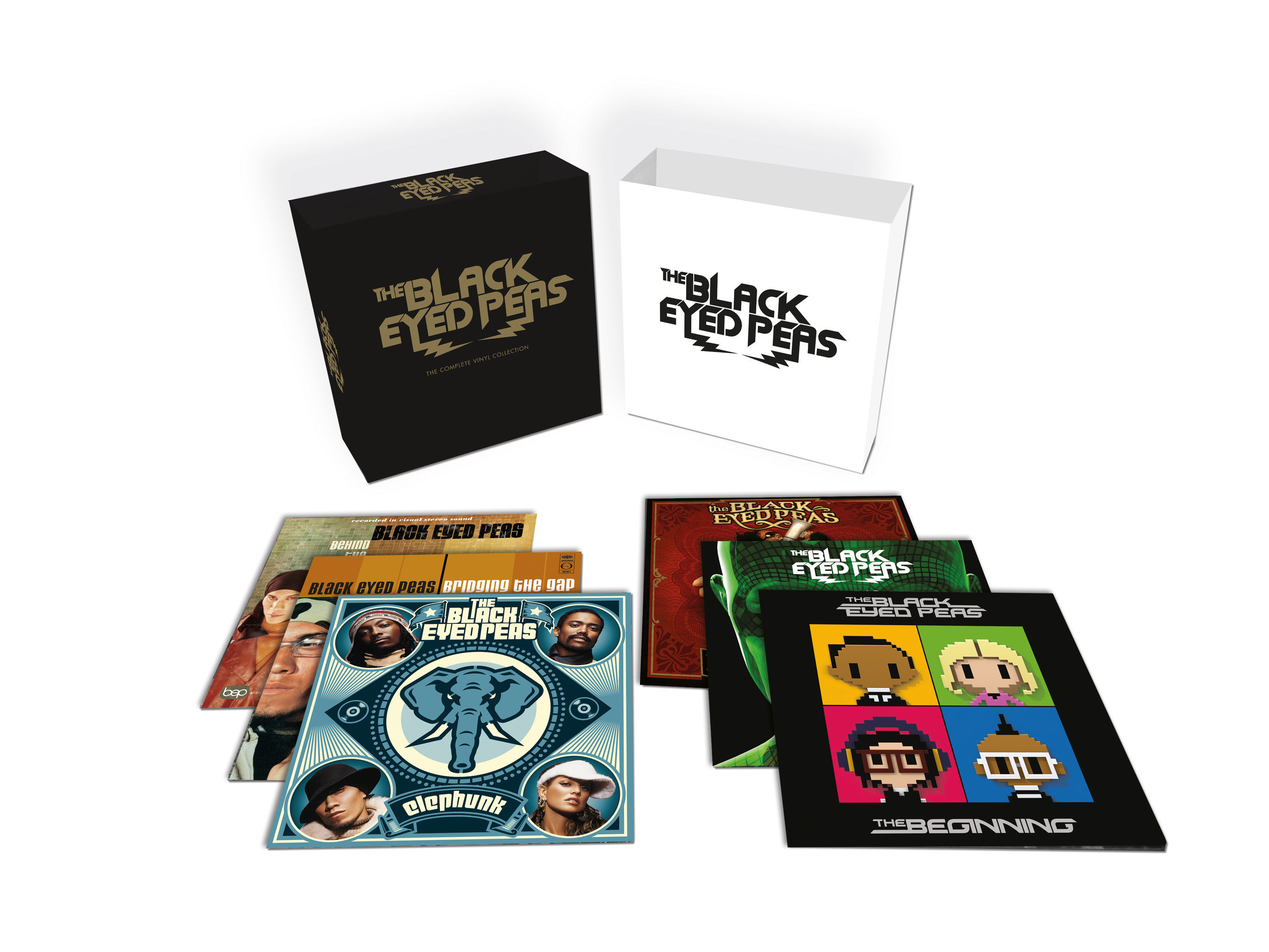 UMe TO RELEASE LIMITED EDITION SIX-DOUBLE-LP VINYL BOX SET, THE BLACK EYED PEAS -- THE COMPLETE VINYL COLLECTION, WITH ALL SIX INTERSCOPE TITLES ALSO AVAILABLE AS INDIVIDUAL LPs. September 30th release features group's evolution from 1998's debut Behind the Front and breakthroughs Elephunk, Monkey Business and The E.N.D., to their most recent, 2010's The Beginning