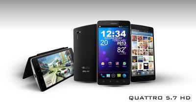 Quattro 5.7 HD.  (PRNewsFoto/BLU Products)