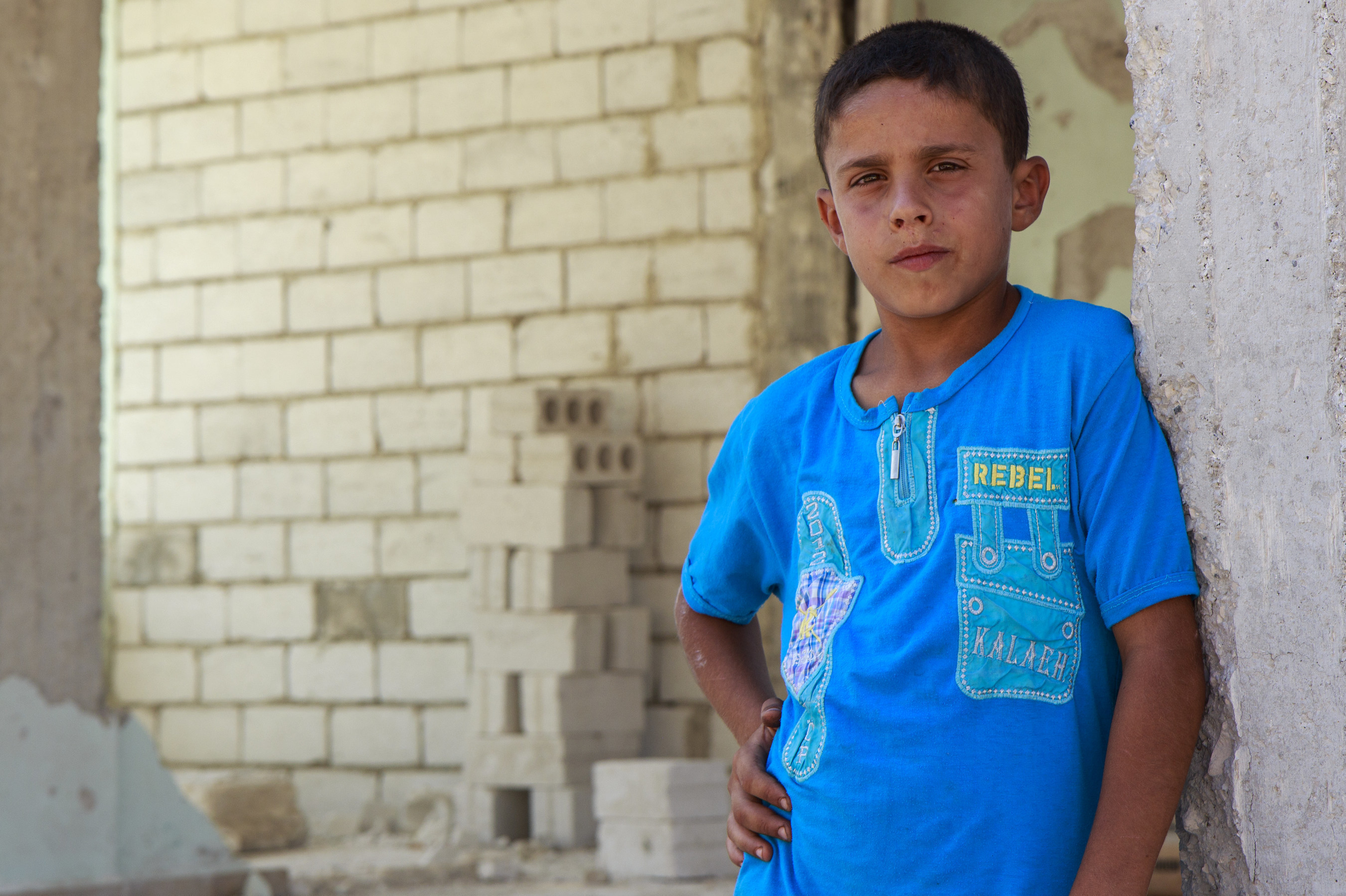 Kareem*'s school, in the suburbs of northern Syria, was attacked by missiles in March 2015, while he and his fellow classmates were at school. Photo by Ahmad Baroudi/Save the Children (* after a name indicates that the name has been changed to protect identity).