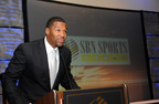 Member of the Super Bowl XLII winning New York Giants and current FOX Sports Analysts Michael Strahan delivers Keynote address at 2011 Ceremony.(PRNewsFoto/American Urban Radio Networks)