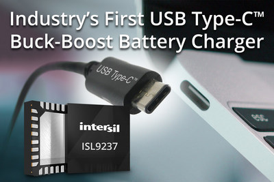 Intersil ships industrys first usb c buck boost battery charger intersils isl9237 reduces bom costs up to 40 extends battery life for ultrabooks sciox Image collections