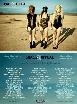 Grace & Ritual, an all-female art exhibit, opens May 10th at iam8bit Gallery in Los Angeles.  (PRNewsFoto/iam8bit)