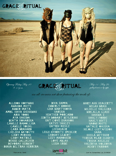 Grace & Ritual, an all-female art exhibit, opens May 10th at iam8bit Gallery in Los Angeles.  ...