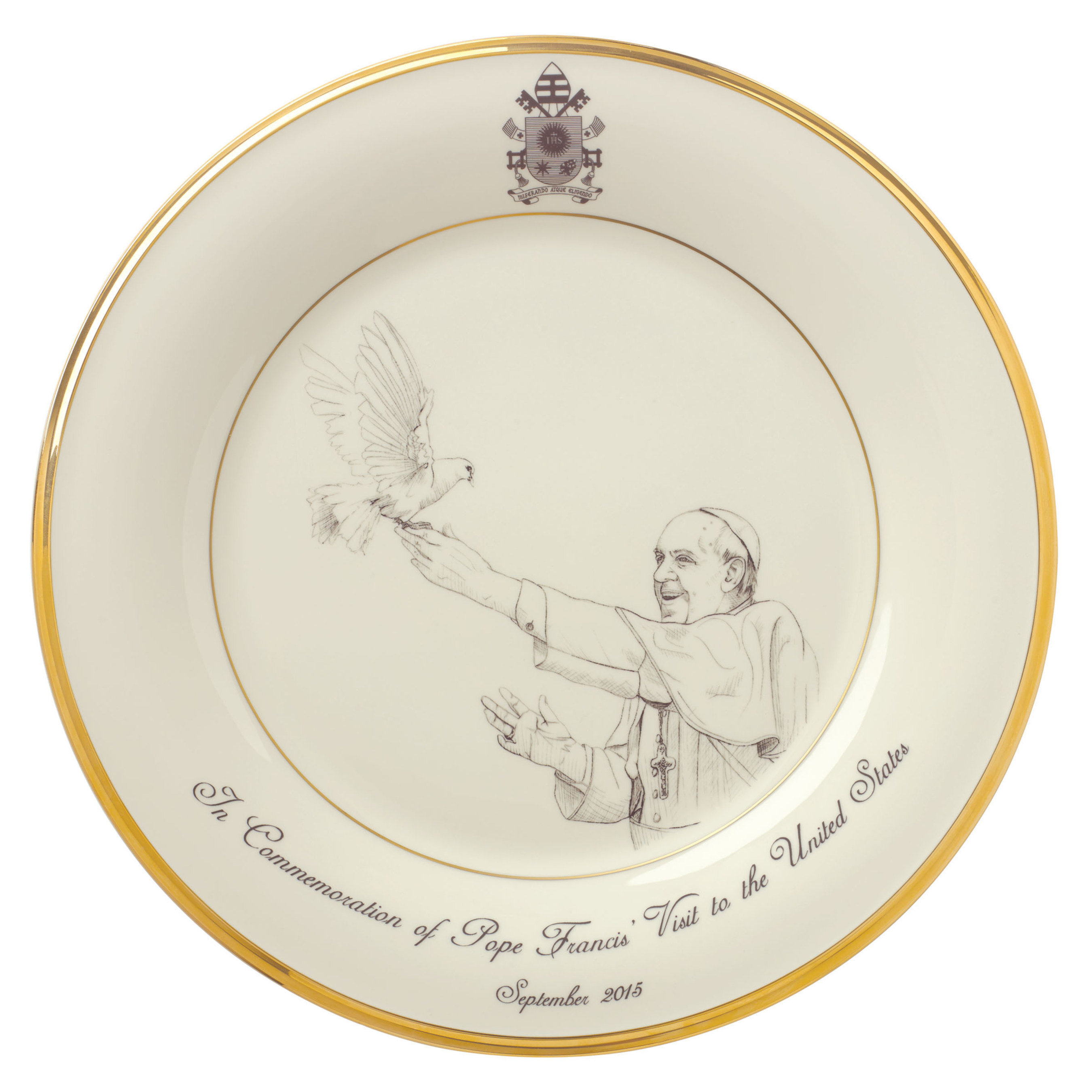 Lenox To Produce Ivory And Gold Fine Bone China Commemorative Gifts For Pope Francis' Historic Visit To The USA