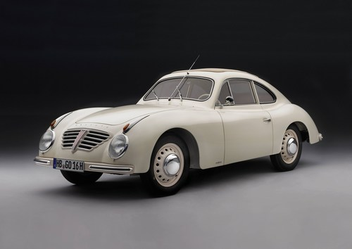 1951: The first vehicle with direct petrol injection was a Goliath sports coupe (PRNewsFoto/BORGWARD Group AG) ...