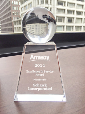 Amway 2014 'Excellence in Service' Award Presented to Schawk
