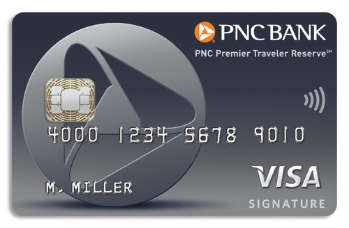 PNC Premier Traveler Reserve(sm) Visa Signature(R) credit card.  (PRNewsFoto/PNC Bank)