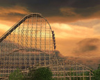 World's tallest, steepest, fastest wooden roller coaster.  (PRNewsFoto/Six Flags Great America)
