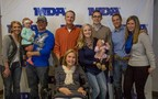 Jane Vanden Heuvel of Little Chute poses with her family at the inaugural Muscular Dystrophy Association (MDA) Toast to Life Gala held on Oct. 23.