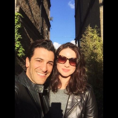 Kassianides and Caitriona Balfe taken from Simon Kassianides' instagram. Caitriona is staring in ...
