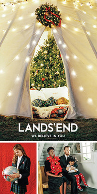 "Lands' End is announcing a new global, multimedia holiday campaign captured by iconic American photographer Bruce Weber. The extraordinary campaign, ""We Believe in You"", visually portrays the heartfelt moments and genuine connections of multigenerational families and friends.  These beautiful images and videos will bring the brand's holiday campaign to life debuting on landsend.com and globally in print, online and on social media beginning in early November."