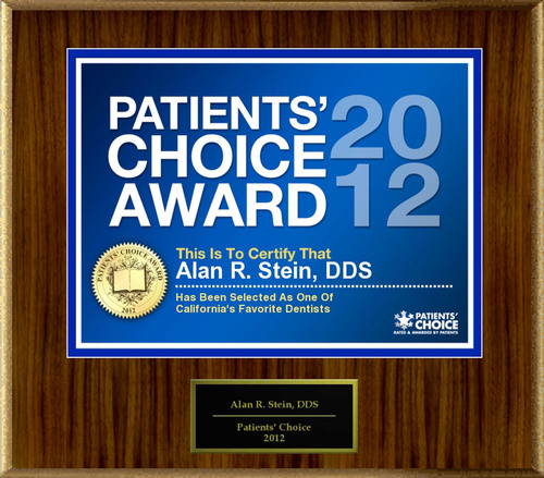 Dr. Stein of Northridge, CA has been named a Patients' Choice Award Winner for 2012.  (PRNewsFoto/American ...