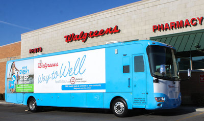 Walgreens Way to Well Health Tour with NUL delivers free health tests (PRNewsFoto/Walgreens)
