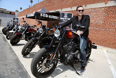 Actor Jesse Lee Soffer twists the throttle of Harley-Davidson's new Roadster. Harley-Davidson took the new agile, garage-built style bike to city streets with pop-up Motorcycle-Share events in Los Angeles, Portland and Milwaukee. To test ride a Roadster or any of the 2016 motorcycles, visit a Harley-Davidson authorized dealership or schedule a test ride online at www.H-D.com.
