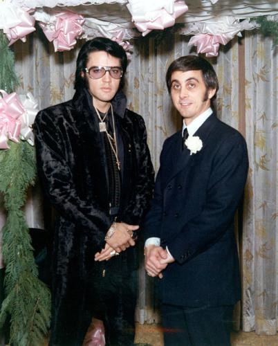 George Klein (r) with Elvis Presley. (PRNewsFoto/Dr. Paul Christo) (PRNewsFoto/DR. PAUL CHRISTO)