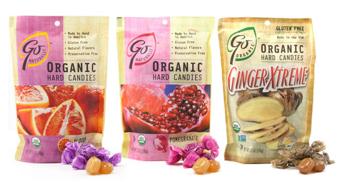 Nassau Candy, the leading manufacturer, importer and distributor of specialty confections and fine foods,  Introduces GoNaturally Organic Hard Candies - A Delicious, Nutritious Response to Retail Demand for Healthier Snacking Options.  (PRNewsFoto/Nassau Candy)