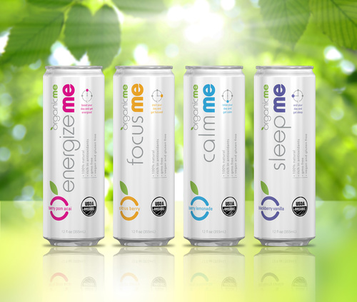 OrganicMe has introduced a new line of functional beverages in Rexam 12 oz. Sleek(R) cans for any time of day. (PRNewsFoto/Rexam)