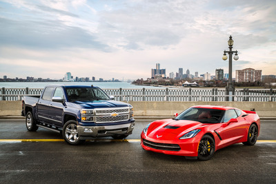 The 2014 Chevrolet Silverado full-size pickup and the 2014 Chevrolet Corvette Stingray are finalists for North American Car and Truck of the Year awards that will be handed out on Jan. 13, 2014 before the opening of the North American International Auto Show in Detroit. (PRNewsFoto/General Motors) (PRNewsFoto/GENERAL MOTORS)