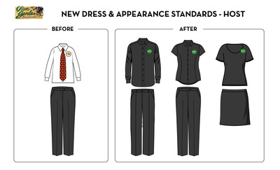Olive Garden hosts have a variety of all-black options they can wear as part of the brand's updated dress standards.