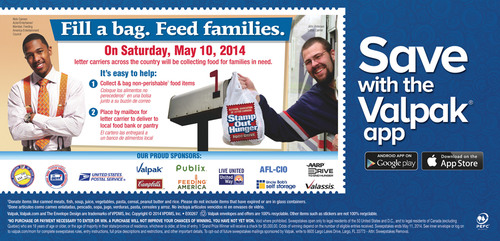 Valpak reminds you to fill a bag, feed families on Saturday, May 10. (PRNewsFoto/Valpak)