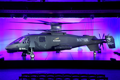 Sikorsky Aircraft has unveiled the next generation of military rotorcraft, the S-97 RAIDER(TM) helicopter, introducing new technologies that are advancing the state of the art. (PRNewsFoto/Sikorsky Aircraft)