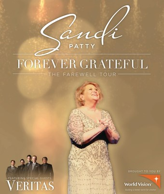 "Christian Music Icon Sandi Patty Announces Fall Dates To Her Historic ""Forever Grateful: The Farewell Tour"""