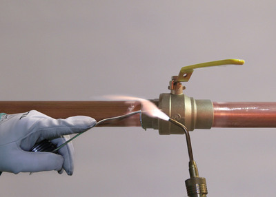 How to properly solder a copper tube joint. (PRNewsFoto/Copper Development Association)