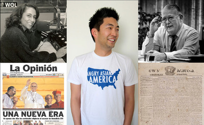 """Newseum, in partnership with the Smithsonian Institution, will open """"One Nation With News for All"""", a new exhibit that tells the dramatic story of how immigrants and minorities used the power of the press to fight for their rights and shape the American experience. """"News For All"""" opens May 16 at the Newseum in Washington, D.C. Image courtesy: Newseum. (PRNewsFoto/Newseum) (PRNewsFoto/NEWSEUM)"""