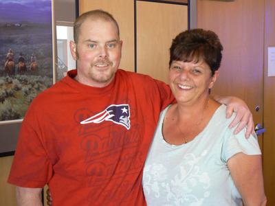 May 17, 2013: SynCardia Total Artificial Heart recipient Justin Ryder post-heart transplant with his mother Sharon at University of Arizona Medical Center in Tucson, AZ.  (PRNewsFoto/SynCardia Systems, Inc.)