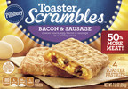 "Pillsbury Toaster Scrambles Calls for ""Breakfast #MeatEquality"" to Celebrate National Sausage Month and its New Product Recipes with 50% More Bacon, Sausage, Egg and Cheese (PRNewsFoto/Pillsbury)"