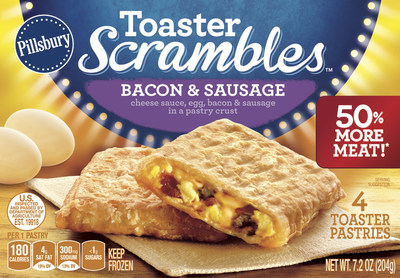Pillsbury Announces Toaster Scrambles™ Now Made With 50% More Bacon, Sausage, Egg And Cheese