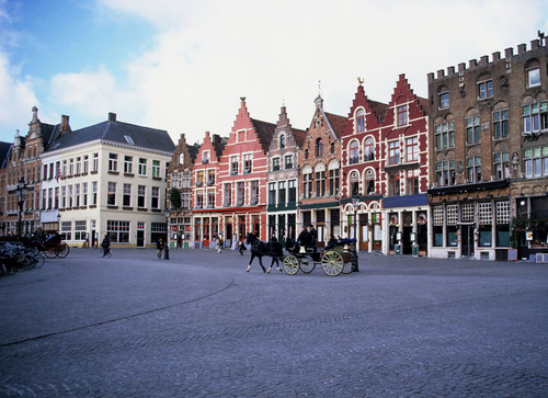 Markt Square in Bruges.  (PRNewsFoto/Crystal Cruises)