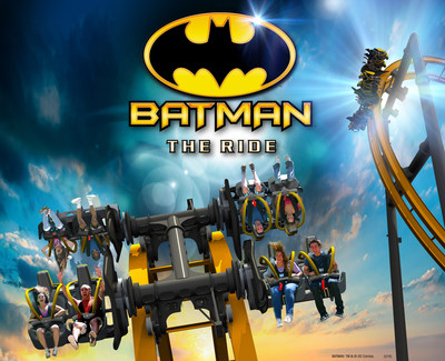 Batman: The Ride - World's First 4D Free Fly Coaster at Six Flags Fiesta Texas, San Antonio in 2015