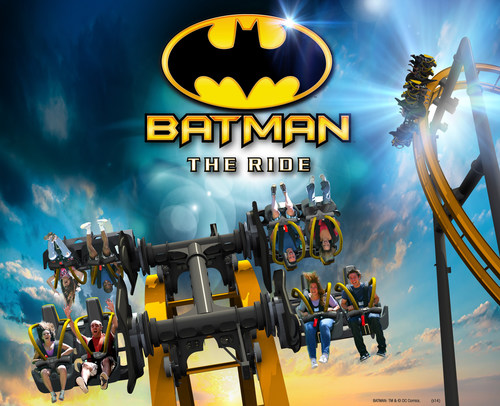 Batman: The Ride - World's First 4D Free Fly Coaster at Six Flags Fiesta Texas, San Antonio in 2015 ...