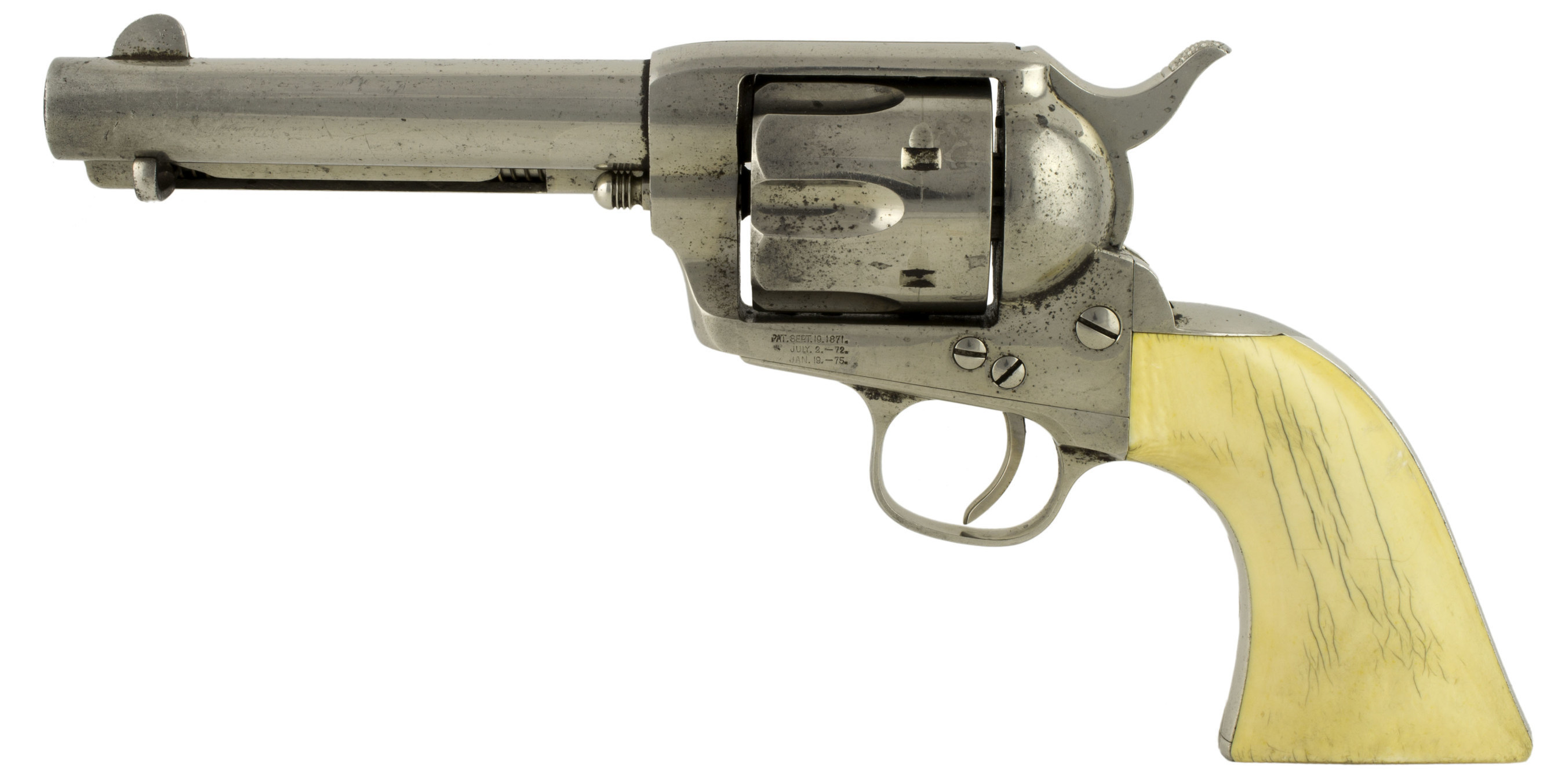 Abraham Lincoln's signed photograph, Bat Masterson's 1882 Colt revolver are among items to be auctioned July 30 & Aug. 2