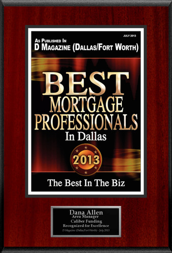 "Dana Allen Selected For ""Best Mortgage Professionals In Dallas"".  (PRNewsFoto/American Registry)"