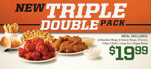 Wingstop introduces the Triple Double Pack, available at more than 550 Wingstop locations for a limited time ...