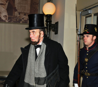 Lincoln's secret passage through Baltimore re-created to kick off 150th anniversary of the Civil War events.  (PRNewsFoto/Visit Baltimore)